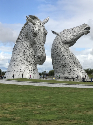 The Kelpies.Andy Scott. 2014