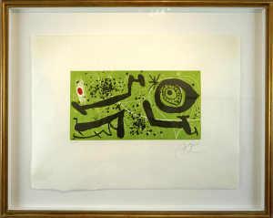 Joan Miró Picasso i els Reventós 21-182 53 x 70 cm Aguatinta Dupin 588 1973 editMenyPesada